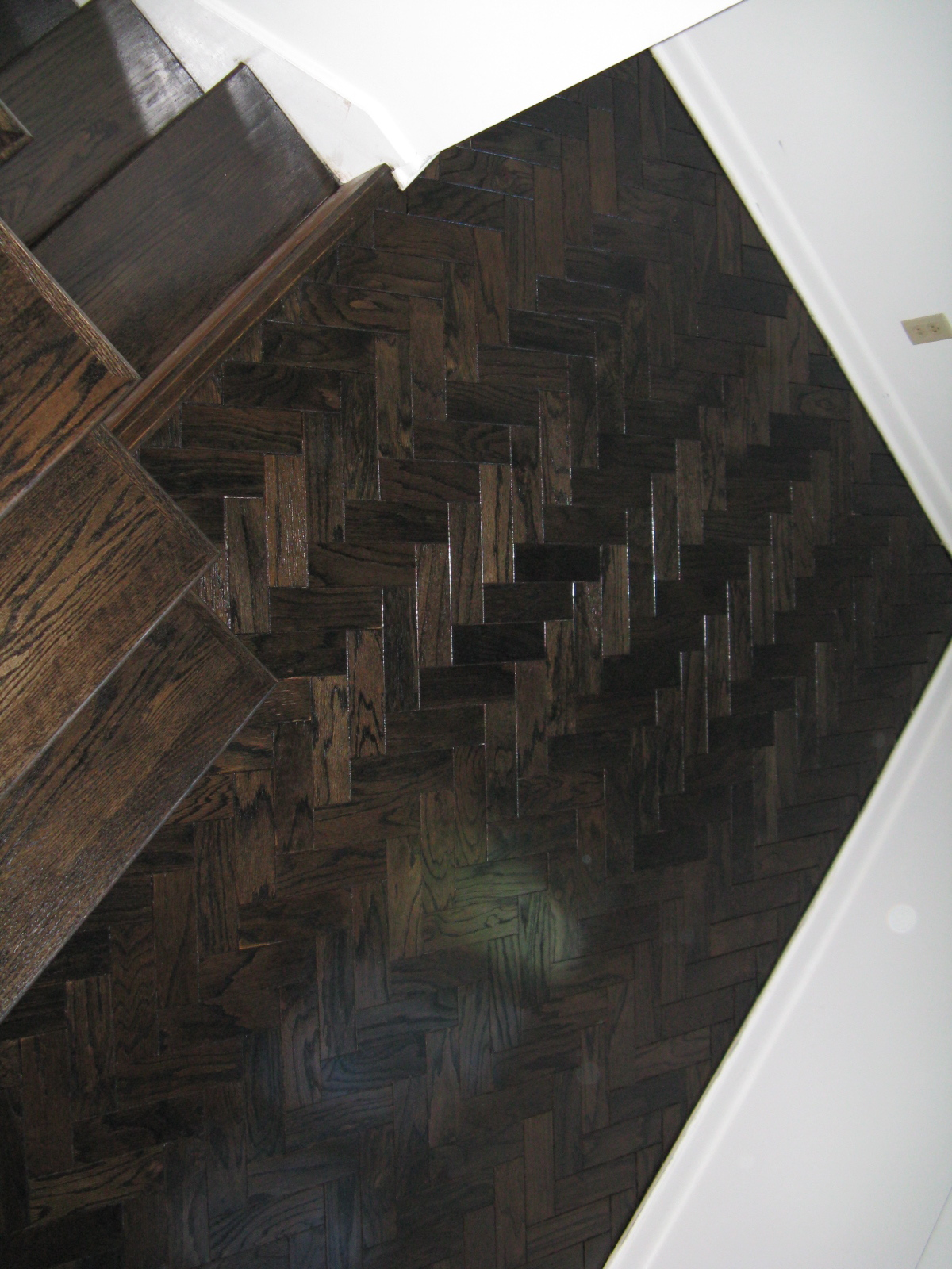 Ebony Stained Parquet After