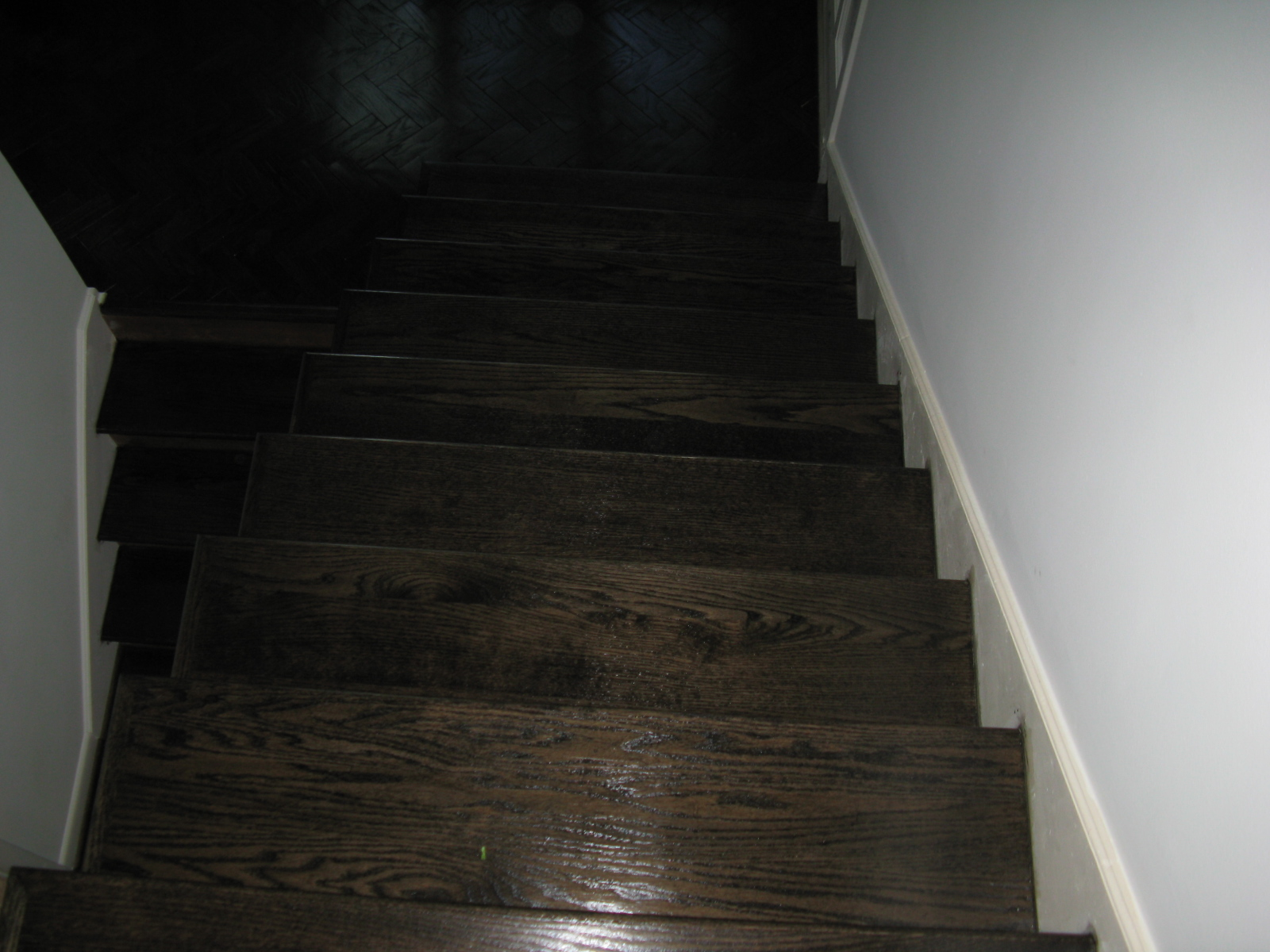 Stained New Stairs
