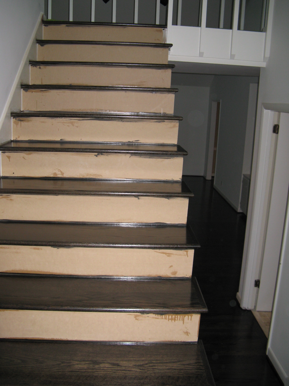 Ebony Stained Hardwood Floors M O D F R U G A L