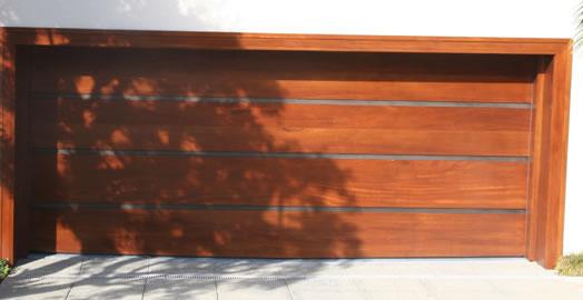 Wood/Stainless Garage Door from Hill Country Door