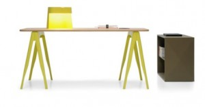 Yellow Tolix Trestle Table $595 sans Top