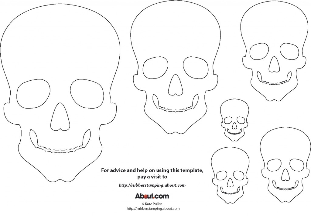 printable skulls for day of the dead – M O D F R U G A L