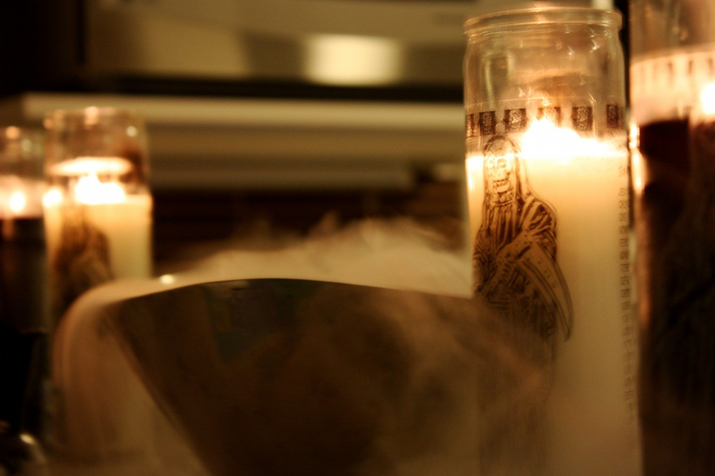 smoke and candles