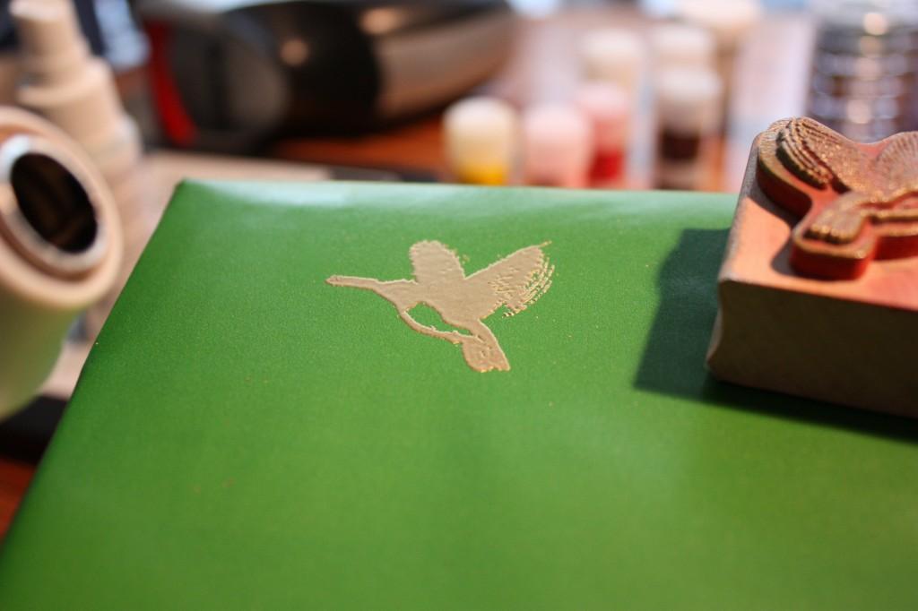 humingbird emboss