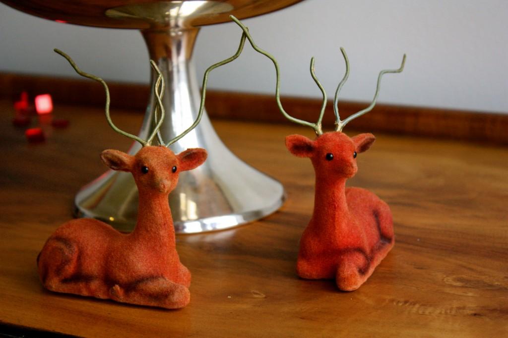 flocked deer