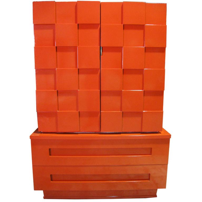 lane cubist laquer cabinet $3200 danenberg