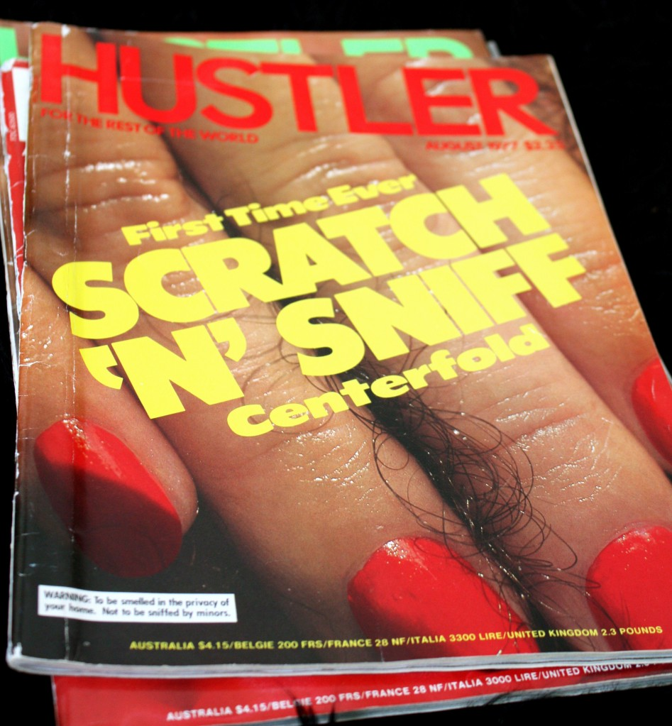 Hustler scratch and sniff centerfold