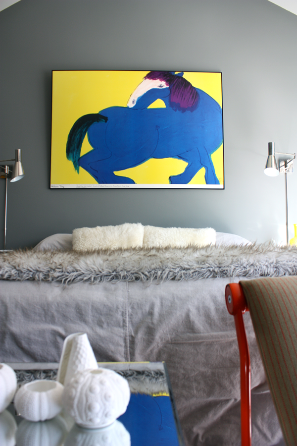 Walasse Ting Blue Horse Poster in MB