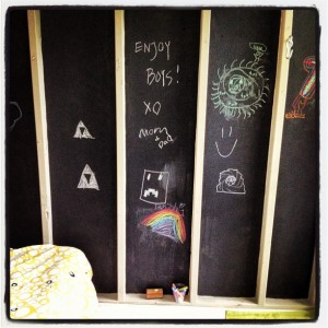treehouse chalkboard wall