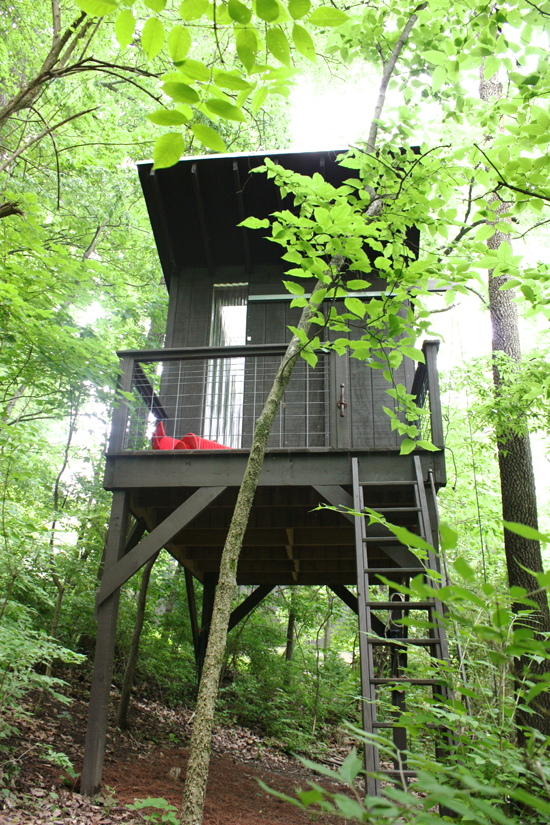 DIY modern treehouse:modfrugal