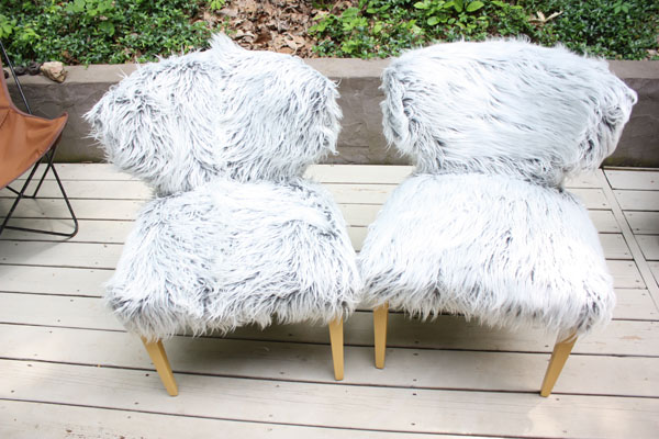 Faux Fur Upholstered Chairs