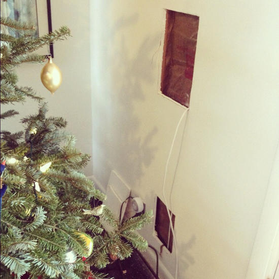 christmas holes for speakers