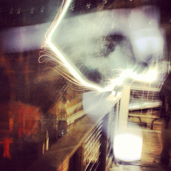 sparklers, not lightening