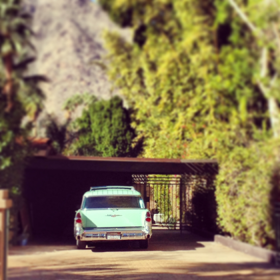 car in Palm Springs
