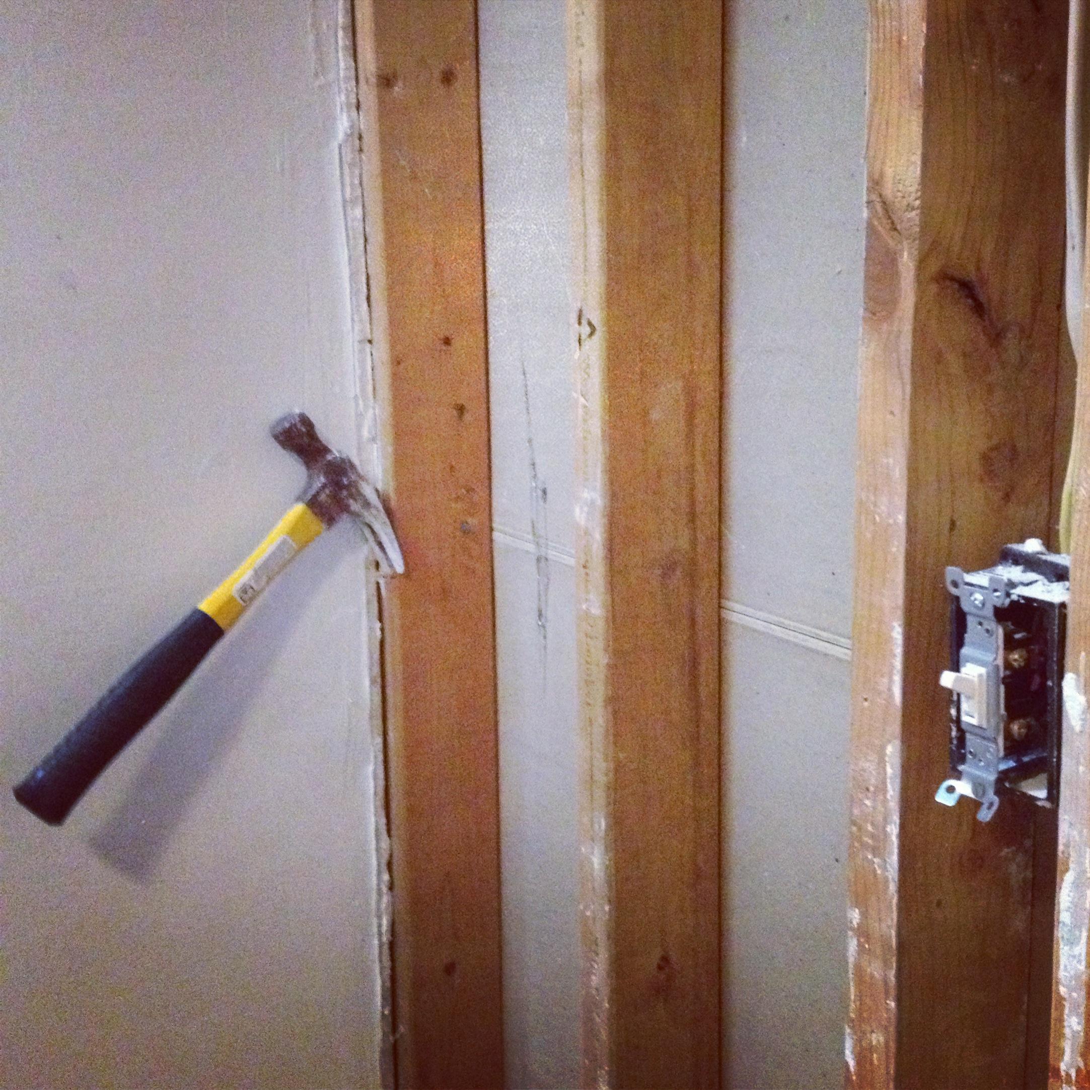 pantry wall coming down