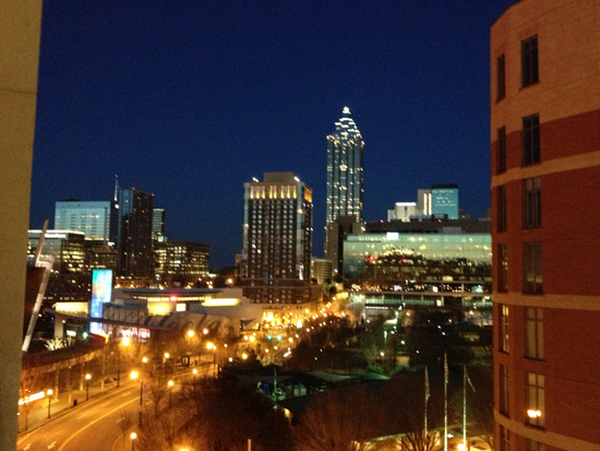 Atlanta at night by Modfrugal