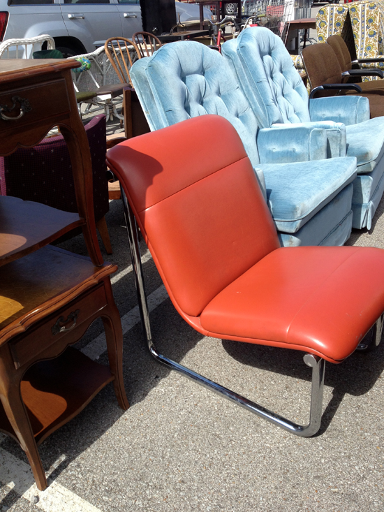 All-Steel Sling Chair: Nashville Flea Market Modfrugal