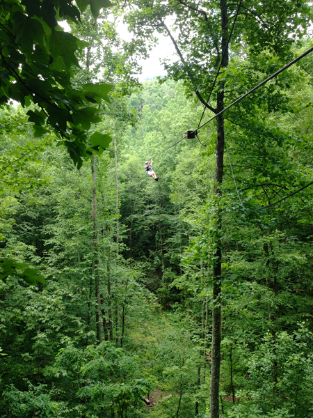 ziplining Highlands, NC