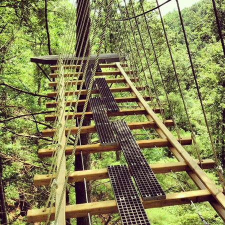 ziplining Highlands NC