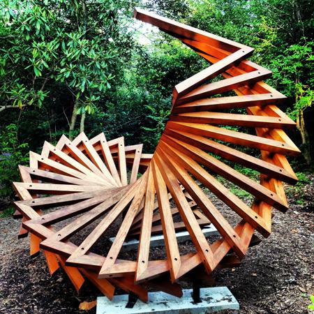 Sculpture garden cashier, NC