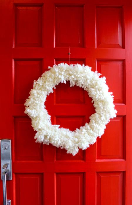 Modfrugal DIY wool wreath