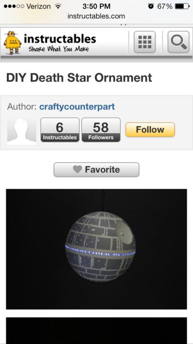 CC's DIY Death Star on Instructables