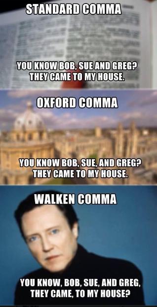 Walken comma