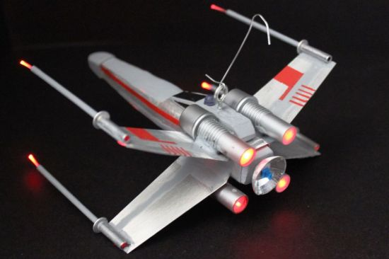 DIY X Wing Fighter rear modfrugal