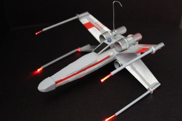 DIY X Wing Fighter with Fiber Optics