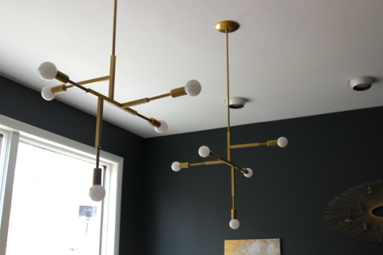 modfrugal DIY brass chandelier