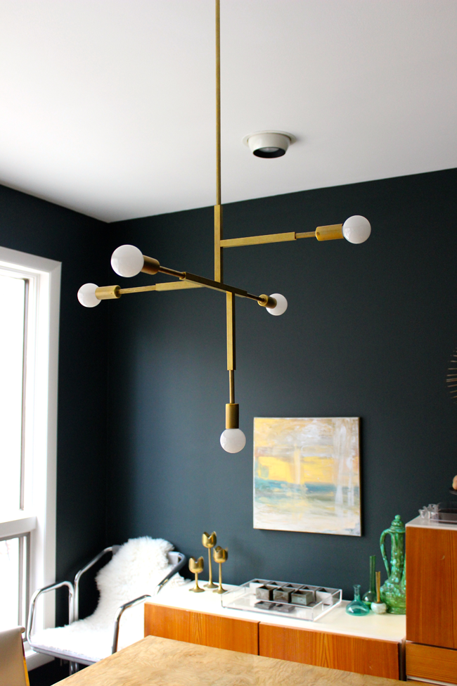 Dining Room Refresh Diy Brass Pendants M O D F R U G A L