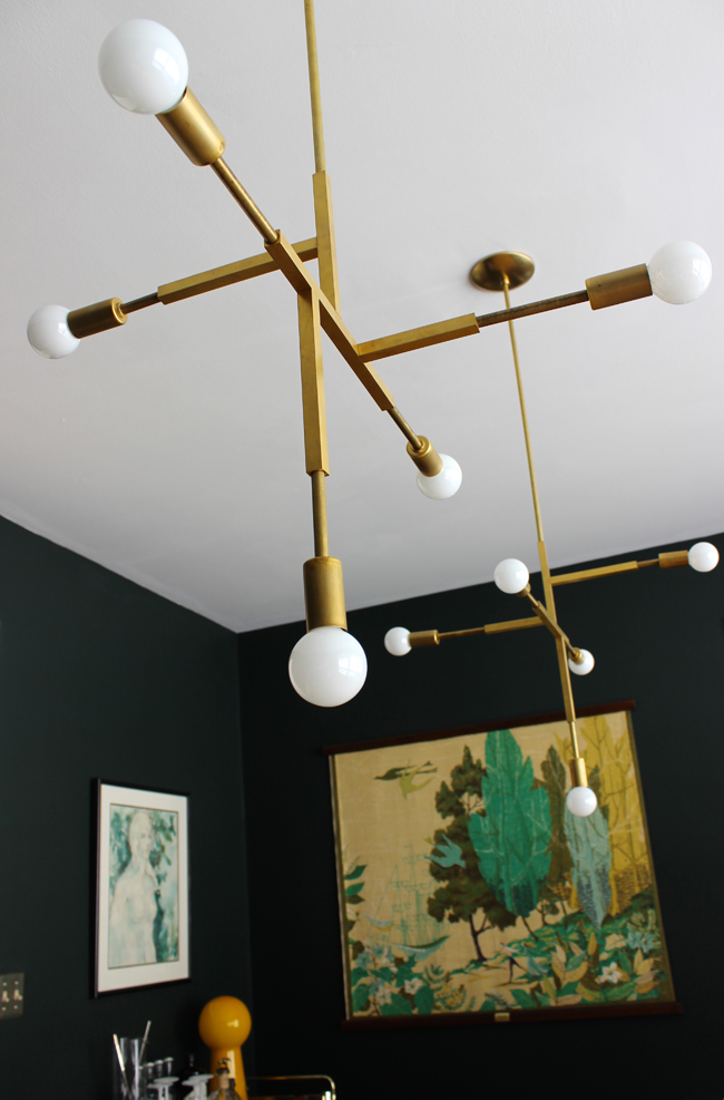 Dining Room Refresh + DIY Brass Pendants - M O D F R U G A L
